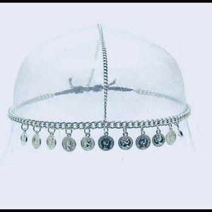 NWT Silver coin headdress